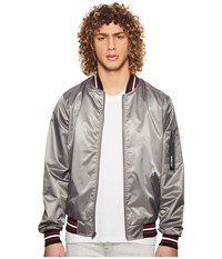 Members Only Lightweight Bomber Jacket Grey Coat Gray