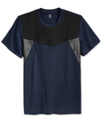 Inc International Concepts Men's Under Oath Colorblocked T Shirt Only At Macy's Basic Navy