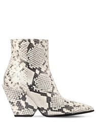 Elena Iachi 80Mm Snake Print Leather Ankle Boots Roccia