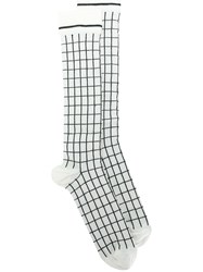 Haider Ackermann Square Embroidered Socks White