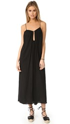 9Seed Positano Keyhole Maxi Dress Black