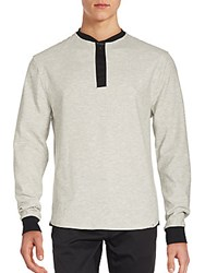 Sovereign Code Brees Cotton Blend Pullover Grey
