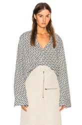 Vetements Monogram Oversized Shirt In Abstract White Abstract White