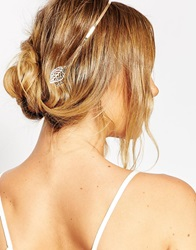 Asos Double Leaf Headband Gold