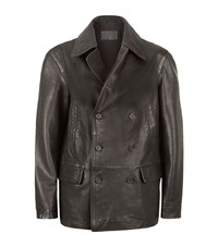Allsaints Tilson Leather Coat Male Black