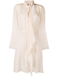 Max Mara Sheer Belted Jacket Neutrals