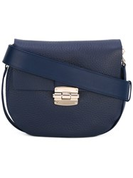 Furla Snap Front Crossbody Bag Women Leather One Size Blue