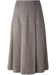 Burberry Vintage Pleated Skirt Nude And Neutrals