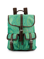 Robert Graham Stellen Paisley Print Backpack Teal Brown