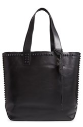 Frye Carson Studded Leather Tote Black