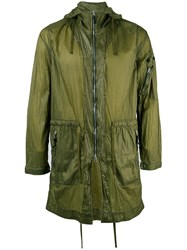 Stone Island Shadow Project Arm Zip Hooded Coat Men Polyimide M Green