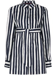 Martin Grant Striped Belted Playsuit Black
