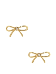 Kate Spade Dainty Sparklers Bow Studs Clear