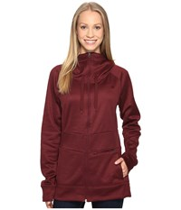 The North Face Shelly Hoodie Deep Garnet Red Heather Women's Sweatshirt