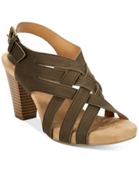 Giani Bernini Justyne Cross Sandals Only At Macy's Women's Shoes Army
