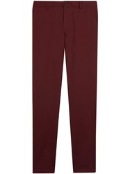 Burberry Slim Fit Cotton Chinos Red