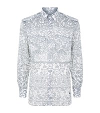 Vivienne Westwood Lace Print Military Shirt Male Grey