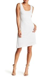 H By Bordeaux Side Ruched Tank Dress White