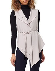 Miss Selfridge Asymmetrical Vest Grey
