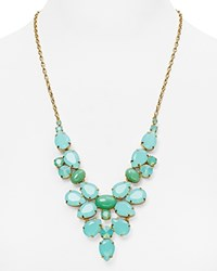 Sorrelli Swarovski Crystal Statement Necklace 25 Green Gold