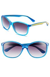 Women's Converse 'Pedal' 60Mm Sunglasses Blue