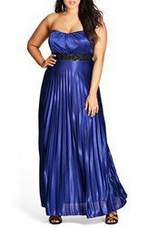 City Chic Plus Size Women's Helena Embellished Strapless Maxi Dress