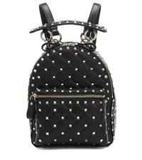 Valentino Garavani Rockstud Spike Mini Leather Backpack Black