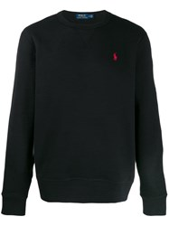 Polo Ralph Lauren Logo Embroidered Jumper Black