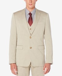 Perry Ellis Men's Classic Fit Twill Jacket Natural Linen