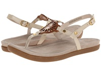 Ugg Ayden Seagull Leather Women's Sandals White
