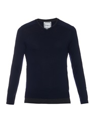 Wooyoungmi Bi Colour Wool Knit Sweater