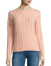 Lord And Taylor Petite Cable Knit Cashmere Sweater Nectar Heather