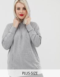 New Look Curve Oversized Hoodie Grey