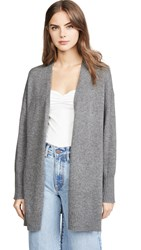 360 Sweater Ariana Cashmere Cardigan Mid Heather Grey