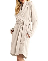 Ugg Shawl Collar Robe Oatmeal Heather