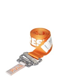 Heron Preston 40Mm Reflective Logo Tech Webbing Belt Orange
