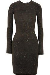 Opening Ceremony Cleo Glittered Stretch Jersey Mini Dress Charcoal