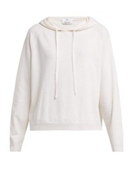 Allude Hooded Wool Blend Sweater Cream