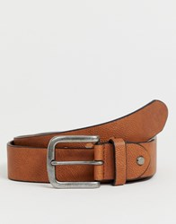 Only And Sons Jeans Belt In Cognac Brown