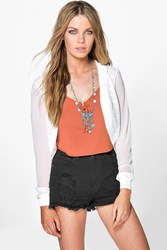 Boohoo Crochet Shrug White