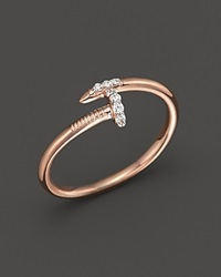 Kc Designs Diamond Nail Ring In 14K Rose Gold .06 Ct. T.W. Pink