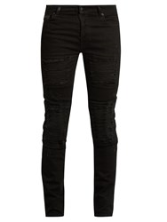 Marcelo Burlon Distressed Slim Leg Jeans Black