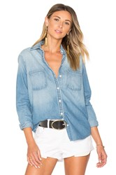 Lovers Friends Casey Button Up Blue