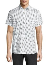 J. Lindeberg Allover Polka Dot Printed Button Down Shirt White