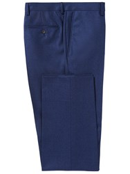 Chester Barrie Men's Brushed Cotton Trouser Blue