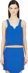 Jacquemus Ssense Exclusive Cobalt Blue Structured Bustier