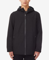 32 Degrees Storm Tech Full Zip Hooded Rain Jacket Black