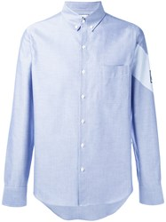 Moncler Gamme Bleu Chambray Stripe Detail Shirt Men Cotton 2 Black