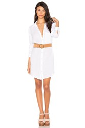 Michael Stars Button Shirt Dress White