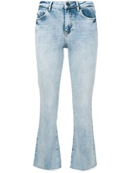 Pinko Cropped Boot Cut Jeans Blue